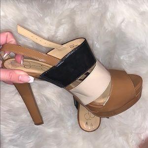 Jessica Simpson strapped heel pumps